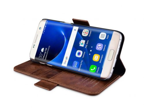 Samsung Galaxy S7 Edge Leather Wallet Case - Oil Wax - Detachable 2 in 1