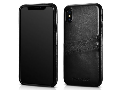 iPhone X / XS Vintage Leather Rear Case – 2 Card Slot