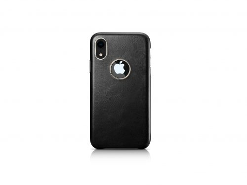 iPhone XR Vintage Leather Rear Case - Exposed Logo
