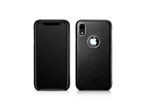 iPhone XS Max Vintage Leather Rear Case - Exposed Logo