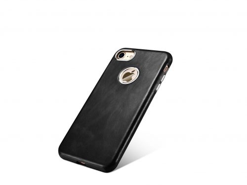 iPhone 7 / 8 / SE Vintage Leather Rear Case - Exposed Logo