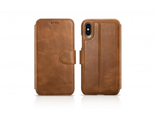iPhone XS Max Leather Wallet Case - 2 in 1 Detachable
