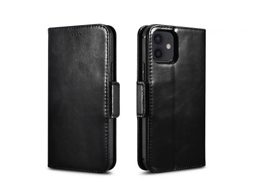 iPhone 12 Leather Wallet Case - 2 in 1 Detachable